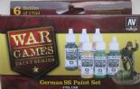 VAL70158 WWII Wargames - German SS Paint Set (x6)